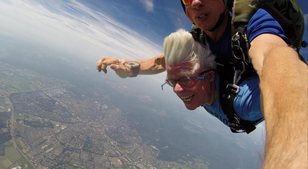 Parachutespringen met hoogtevrees